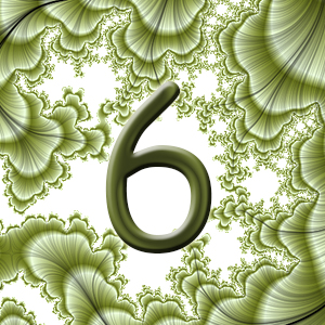 нимб, число шесть